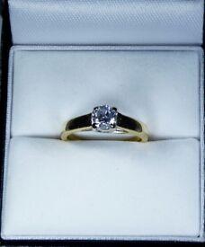 EGL Certified 18K Yellow Gold 0.52ct Diamond Engagement Ring rrp £1,500