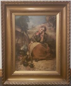 Walter Graham Grieve R.S.A., R.S.W. 1872 – 1937 Edinburgh, Scotland Large Original Oil Painting