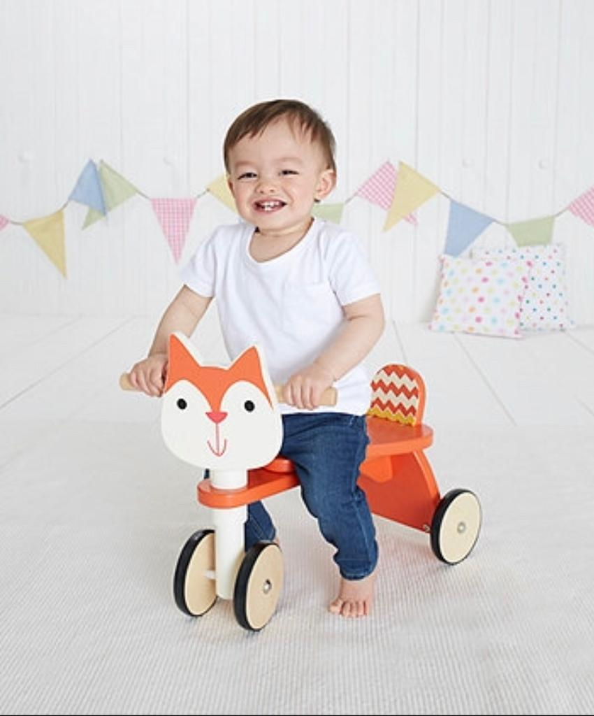Early Learning Centre wooden squirrel trike ride on