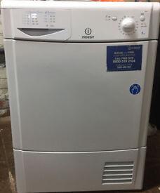 Indesit IDC85 8kg White Condenser Tumble Dryer 1 YEAR GUARANTEE
