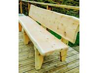 Rustic Heavy Duty Timber Bench