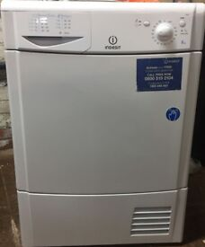 44 Indesit IDC85 8kg White Condenser Tumble Dryer 1 YEAR GUARANTEE FREE DELIVERY