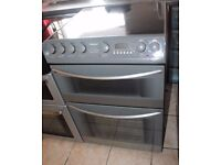 6 MOTHS WARRANTY Hotpoint creda 60cm, double oven electric cooker WARRANTY