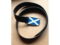Scotland belt, soltire,st Andrews, up to 38' waist leather new