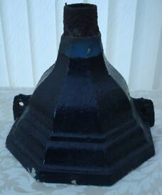 Antique. Reclaimed Victorian Cast Iron Rain Hopper. Also Ideal as Planter