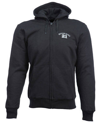 HIGHWAY 21 Men's INDUSTRY LOGO Riding Hoodie w/CE Protection (Black) Choose Size