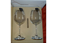 Dartington Crystal glasses, pairs of red wine and set of 6 white wine - BNIB