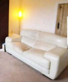 Furniture for sale. Arighi Bianchi Pair of cream leather sofas