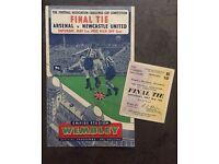 Original 1952 F.A CUP Final Progamme & Ticket VGC Arsenal vs Newcastle.