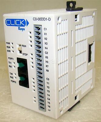 Automation Direct Koyo Click C0-00dd1-d 24vdc 20w Plc Unit