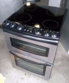 Tricity Bendix Strata CSE500X 600mm Electric Double Oven Cooker With Ceramic Hob