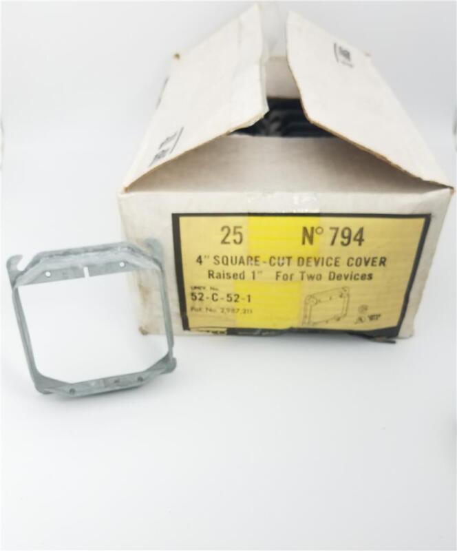 "794 Raco Mud Ring 2 Device 4"" Square Raised 1"" MFR 780 (Box of 25)"