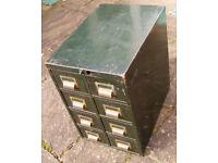 Vintage retro filing cabinet/metal drawers