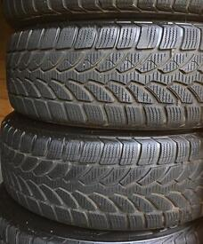 BMW 1 series winter wheels / run flat Bridgestone tyres 195/55R16