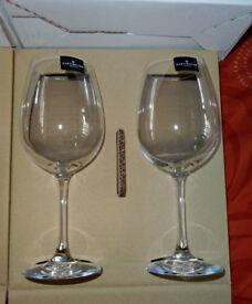 Dartington Crystal glasses, pairs of red wine and set of 6 white wine - BNIB