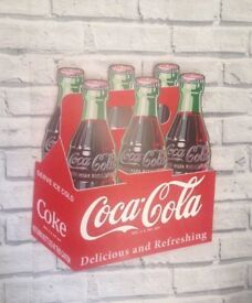 Official Large Coca Cola Wooden 6 Pack Sign - Retro sign