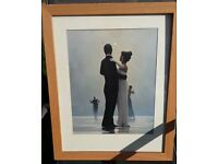 Jack Vettriano wooden Framed with Glass - Dance me to the end of love