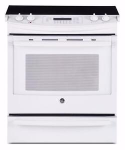 """30"""" stainless steel electric and convection range with self clean oven, GE"""