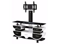 "TV STAND WITH BRACKET FOR 32"" - 65"" + GLASS"