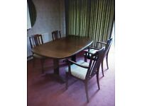 G plan Dining suite (table and four chairs)