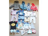 Baby boy bundle 9-12 and 12-18 months coat,top, jackets,shoes