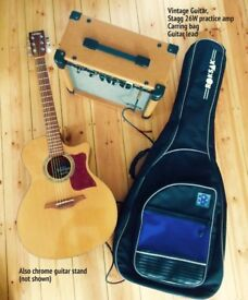 ELECTRIC ACOUSTIC GUITAR AND AMP FOR SALE