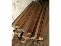16 x Wooden Fence Posts - 6ft x 7cm - Garden Fencing Wood Timber Sections - COST £8 each at Homebase