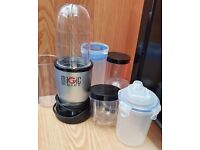 MAGIC BULLET MB-1001 BLENDER/GRINDER + ATTACHMENTS USED but in good condition.