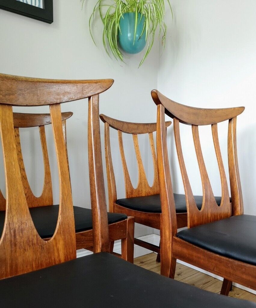 Sensational Set Of 4 Rare G Plan Brasilia Midcentury Teak Dining Chairs 8 Available In Attleborough Norfolk Gumtree Squirreltailoven Fun Painted Chair Ideas Images Squirreltailovenorg