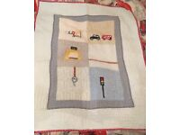 Mamas and Papas transport cot bed quilt and bumper