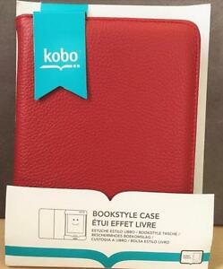 NEW, Genuine Kobo Pebbled BookStyle Leather Case for Kobo Touch N905-BMP-2RD- Red