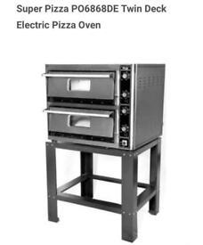 Brand new Super Pizza PO6868DE Twin Deck Electric Pizza Oven