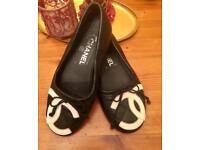 Chanel ballet flats shoes authentic