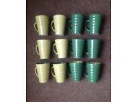 X 6 Porcelain Mugs Tea Coffee Hot Chocolate Large / Tall Mugs NEW