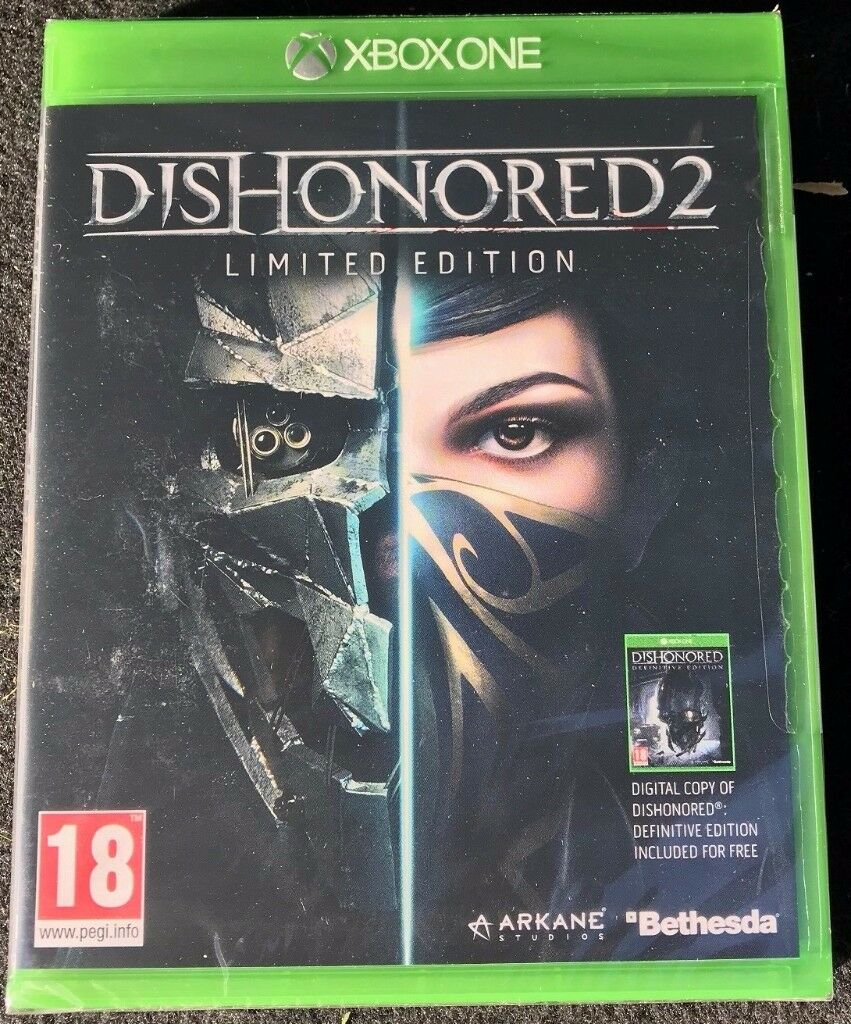 Dishonored 2 Limited Edition for Xbox One - Brand New & Sealed - £5 no offers