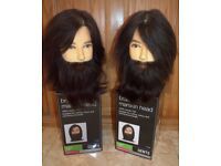 2 X New Brad Male Mannequin Hairdressing / Barber practice heads 100% human hair