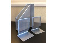 Bookends and magazine holder (Stationaries)