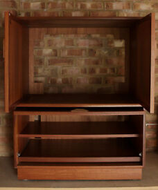 G-Plan Mid Century Teak Cabinet Small Ideal Cocktail TV Or Games Cupboard