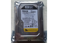 """HDD WD 500GB, 7200rpm, 64MB cache, WD5003ABYZ, WD Re 3.5"""" 24x7 Enterprise HDD, brand new - sealed"""