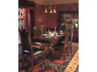 Jaycee Jacobean Dining Table & 8 Chairs