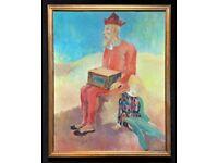 'A Circus performer' Large Fabulous Original 20thc Watercolour Portrait Painting