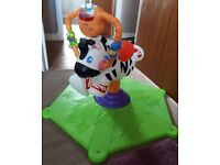 Fisher Price bounce and spin zebra - very good working condition