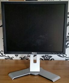 17 inch Dell monitor, 1707FPT. Adjustable height, tilt, swivel. With cable. Clean working condition.
