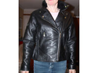 Ladies Leather Motorcycle Jacket by JTS, Hardly Worn and in Excellent Condition.