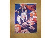 Japanese Manga Gangs Warriors Bleach Ichigo Kurosaki Renji Sheer Fabric Poster
