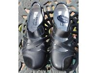LADIES BLACK LIFESTYLE SHOES BY CUSHION-WALK