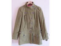 NEXT Green Womens Winter Smart Coat Jacket Size 10