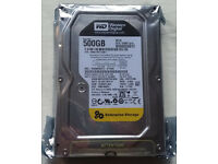 "WD 500GB hard disk 7200rpm, 64MB cache, WD Re 3.5"" 24x7 Enterprise, WD5003ABYZ, brand new-sealed"