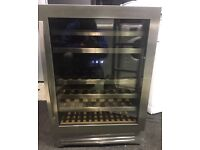 Silver glass door wine cooler £130 free delivery great condition