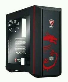 Cooler Master MasterBox 5 MSI Edition, Black/Red, Mid Tower Computer Chassis Case
